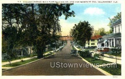 College Ave - Tallahassee, Florida FL Postcard
