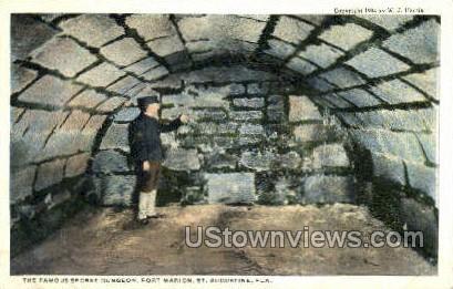 Secret Dungeon - St Augustine, Florida FL Postcard