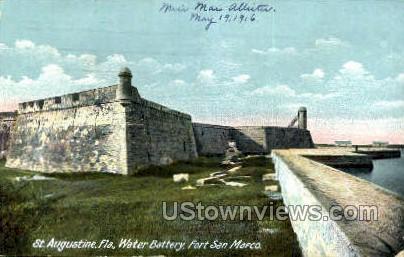 Water Battery - St Augustine, Florida FL Postcard