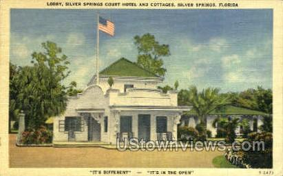 Court Hotel - Silver Springs, Florida FL Postcard