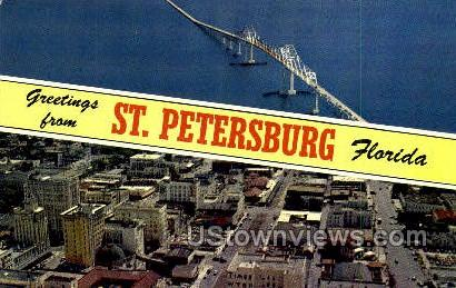 St Petersburg, Florida, FL, Postcard