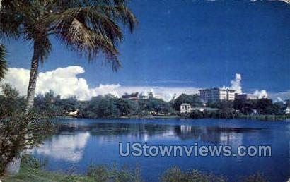 Lake Mirror - St Petersburg, Florida FL Postcard