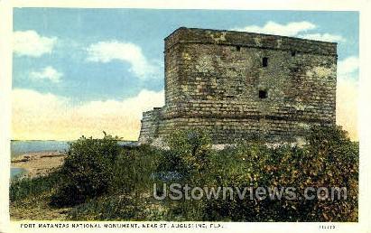 Fort Matanzas Monument - St Augustine, Florida FL Postcard
