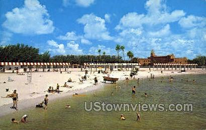 Spa Beach - St Petersburg, Florida FL Postcard