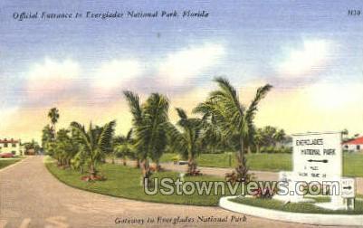 Everglades National Park, Florida, FL, Postcard