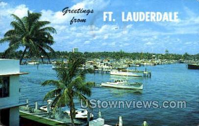 Bahia Mar - Fort Lauderdale, Florida FL Postcard