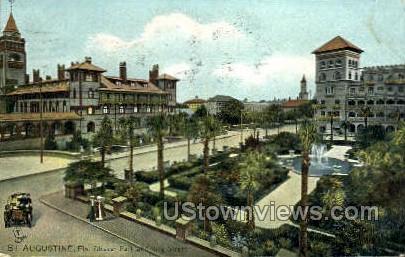 Alcazar Park - St Augustine, Florida FL Postcard