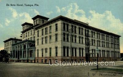 De Soto Hotel - Tampa, Florida FL Postcard