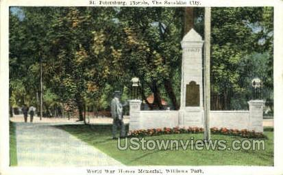 Williams Park - St Petersburg, Florida FL Postcard