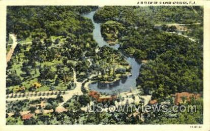 Air View - Silver Springs, Florida FL Postcard