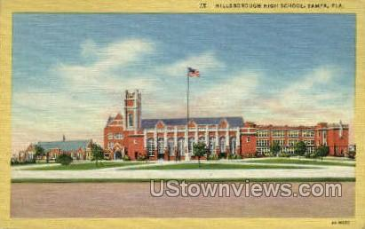 Hillsborough High School - Tampa, Florida FL Postcard
