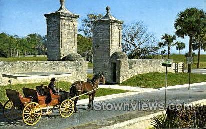 Old City Gate - St Augustine, Florida FL Postcard