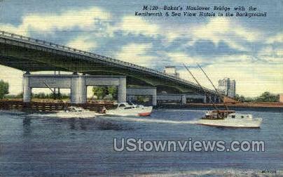 Baker's Haulover - Misc, Florida FL Postcard