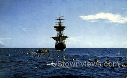 Capt Blich Adrift - St Petersburg, Florida FL Postcard