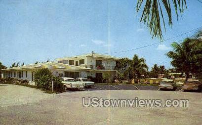 Willis Waterway Apts - Lauderdale by the Sea, Florida FL Postcard