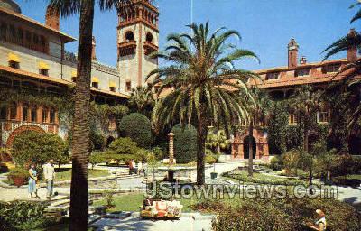 Gardens - St Augustine, Florida FL Postcard