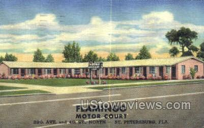 Flamingo Motor Court - St Petersburg, Florida FL Postcard