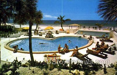 Normandy-Surf Lane Apts - Gulf of Mexico, Florida FL Postcard