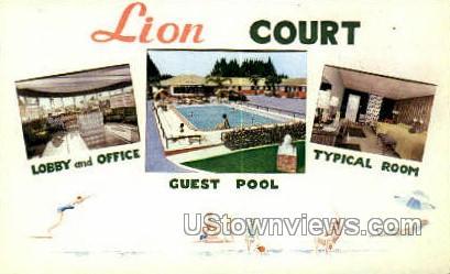 Lion Motor Court - St Augustine, Florida FL Postcard