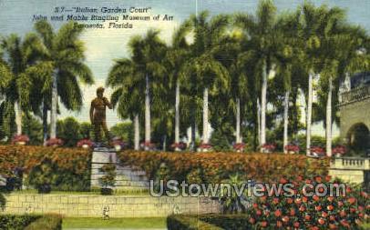 Italian Garden Court - Sarasota, Florida FL Postcard