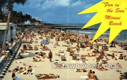 21st Street - Miami Beach, Florida FL Postcard