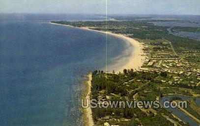 Crescent Beach - Sarasota, Florida FL Postcard