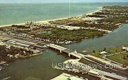 Stickney Point Bridge - Sarasota, Florida FL Postcard