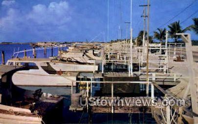Fishing Fleet - Key West, Florida FL Postcard