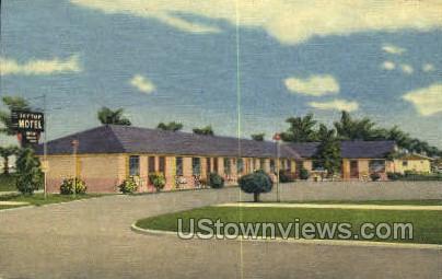 Skytop Motel - Clearwater, Florida FL Postcard