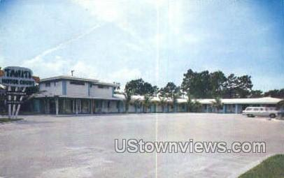 Tahiti Motor Court - Tampa, Florida FL Postcard