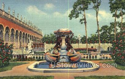 Fountain of Turtles - Sarasota, Florida FL Postcard