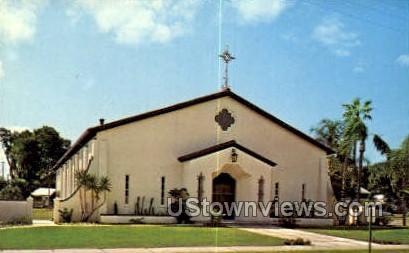 Sacred Heart Chapel - Bradenton, Florida FL Postcard