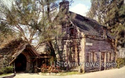 Oldest Wooden School House - St Augustine, Florida FL Postcard