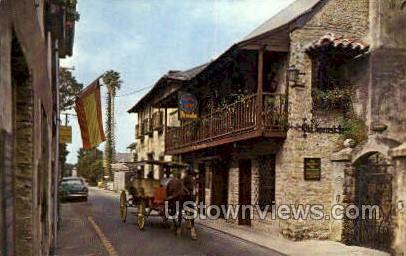 Old Spanish Inn - St Augustine, Florida FL Postcard