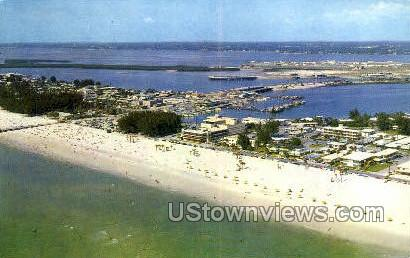 Clearwater's Beach - Gulf of Mexico, Florida FL Postcard