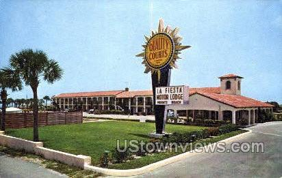 La Fiesta Motor Lodge - St Augustine, Florida FL Postcard