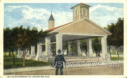 Old Slave Market - St Augustine, Florida FL Postcard