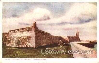 Watter Battery - St Augustine, Florida FL Postcard