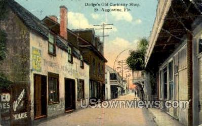 Dodge's Old Curiosity Shop - St Augustine, Florida FL Postcard