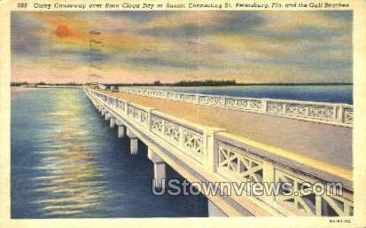 Corey Causeway - St Petersburg, Florida FL Postcard