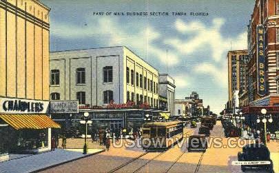 Main Business Section - Tampa, Florida FL Postcard