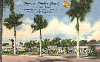 Dumas Motor Court - Bradenton, Florida FL Postcard