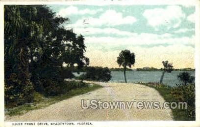 River Front Drive - Bradenton, Florida FL Postcard