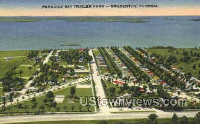 Trailer Park - Bradenton, Florida FL Postcard