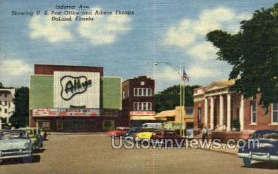 Indiana Ave - De Land, Florida FL Postcard