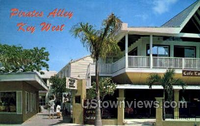 Pirates Alley - Key West, Florida FL Postcard