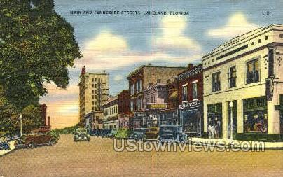 Main & Tennessee Street's - Lakeland, Florida FL Postcard