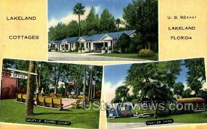 Lakeland Cottages - Florida FL Postcard