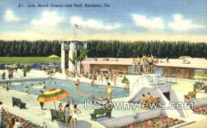 Lido Beach - Sarasota, Florida FL Postcard
