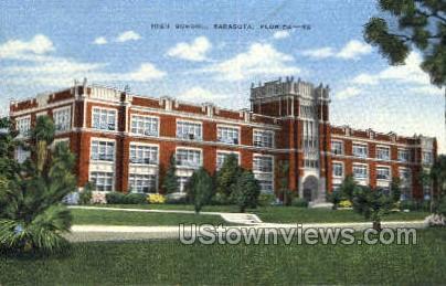 High School - Sarasota, Florida FL Postcard